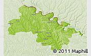 Physical 3D Map of Soroca, lighten