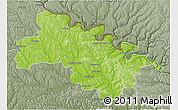 Physical 3D Map of Soroca, semi-desaturated