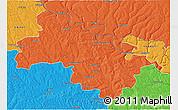 Political 3D Map of Soroca