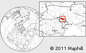 Blank Location Map of Soroca