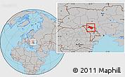 Gray Location Map of Soroca