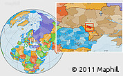 Political Location Map of Soroca