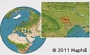 Satellite Location Map of Soroca