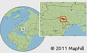 Savanna Style Location Map of Soroca