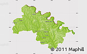 Physical Map of Soroca, cropped outside