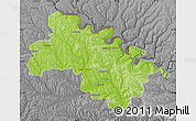 Physical Map of Soroca, desaturated