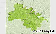 Physical Map of Soroca, lighten