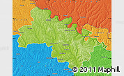 Physical Map of Soroca, political outside