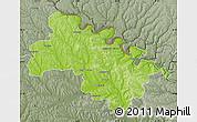 Physical Map of Soroca, semi-desaturated
