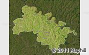 Satellite Map of Soroca, darken