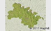 Satellite Map of Soroca, lighten