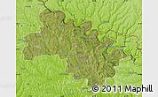 Satellite Map of Soroca, physical outside