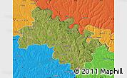 Satellite Map of Soroca, political outside