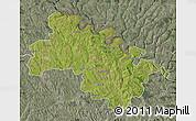 Satellite Map of Soroca, semi-desaturated