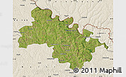 Satellite Map of Soroca, shaded relief outside