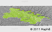 Physical Panoramic Map of Soroca, desaturated