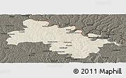 Shaded Relief Panoramic Map of Soroca, darken