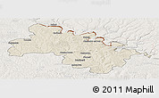 Shaded Relief Panoramic Map of Soroca, lighten