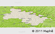 Shaded Relief Panoramic Map of Soroca, physical outside