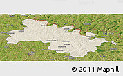 Shaded Relief Panoramic Map of Soroca, satellite outside