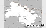 Gray Simple Map of Soroca