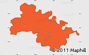 Political Simple Map of Soroca, single color outside