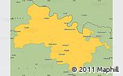 Savanna Style Simple Map of Soroca