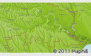 Physical 3D Map of Tighina
