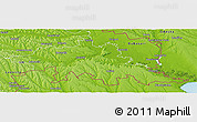 Physical Panoramic Map of Tighina