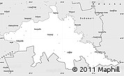 Silver Style Simple Map of Tighina