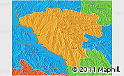 Political 3D Map of Ungheni