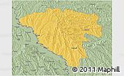Savanna Style 3D Map of Ungheni