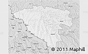 Silver Style 3D Map of Ungheni