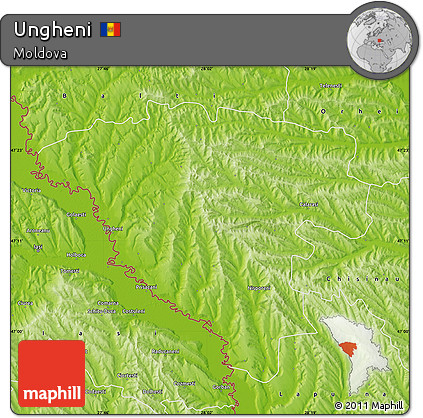 Physical Map of Ungheni