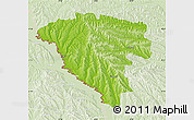 Physical Map of Ungheni, lighten