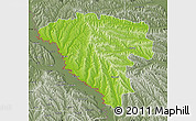 Physical Map of Ungheni, semi-desaturated