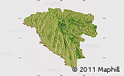 Satellite Map of Ungheni, cropped outside