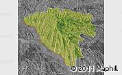 Satellite Map of Ungheni, desaturated
