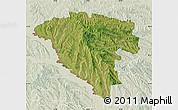 Satellite Map of Ungheni, lighten