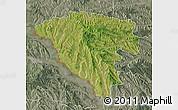 Satellite Map of Ungheni, semi-desaturated
