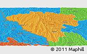 Political Panoramic Map of Ungheni