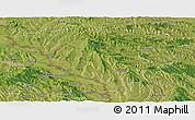 Satellite Panoramic Map of Ungheni