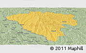 Savanna Style Panoramic Map of Ungheni