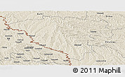 Shaded Relief Panoramic Map of Ungheni