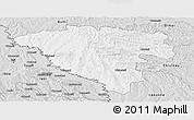 Silver Style Panoramic Map of Ungheni