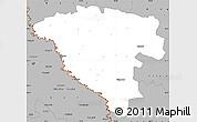 Gray Simple Map of Ungheni