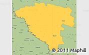 Savanna Style Simple Map of Ungheni