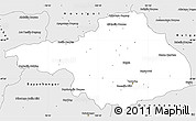 Silver Style Simple Map of Arhangay