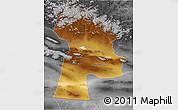 Physical 3D Map of Bayanhongor, desaturated