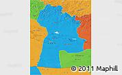 Political 3D Map of Bayanhongor